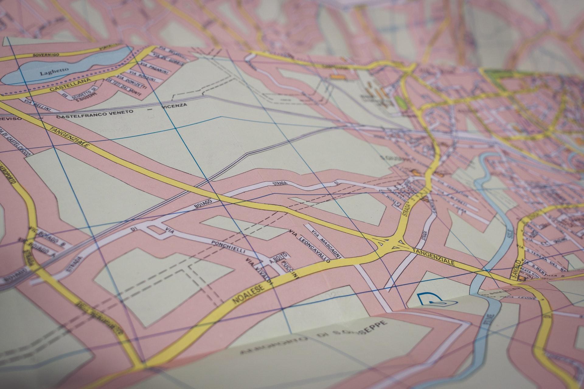 City map illustrating interoperability